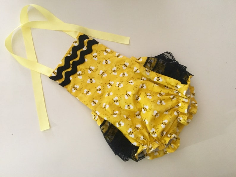 89d44d09aa0 Bumble bee birthday spelling bee romper sunsuit amash cake bee