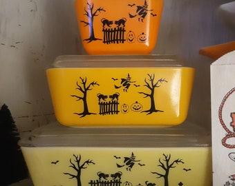 Vintage Halloween Pyrex decal pack (DECALS ONLY)