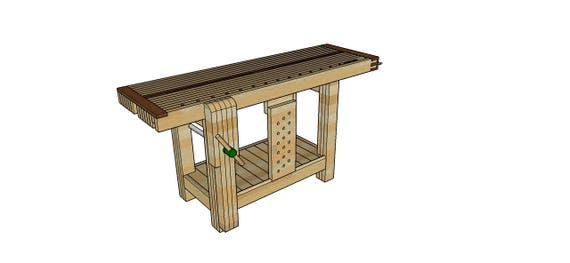 Split Top Roubo Workbench Plans Right Handed