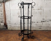 Tall Wrought Iron Plant Stand Victorian Garden Decor Metal Scroll Plant Stand
