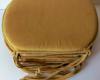 Set Of 4 Golden Yellow Chair Cushion Chair Pads Vintage Kitchen Decor  Wooden Chair Seat Cushion