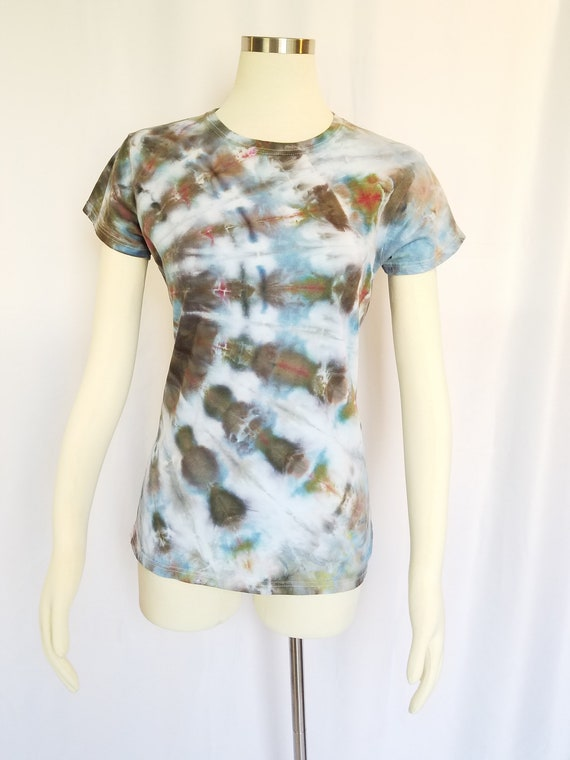 674c2e62e4d Ladies Tie Dye Tee - Size Small - Ice Dye T-Shirt - Tie Dye Top