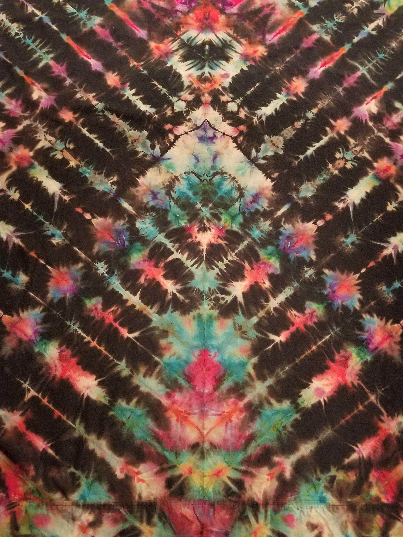 362bfef2b4ed02 Tie Dye Tapestry - Twin Size Sheet - Reverse Dyed - Tie Dye Wall Art