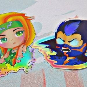 Holographic Valorant Stickers Yoru and Skye