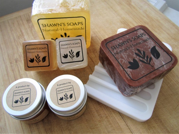 Mix & Match Handmade Bar Soaps, Face Scrubs and Silicon Soap Dish Gift Set by Shawn's Soaps