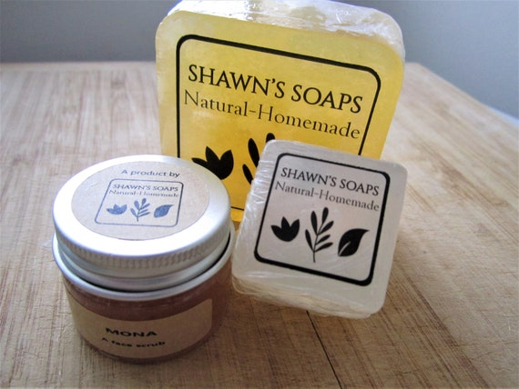 Mix & Match 3-in-1 Handmade Bar Soaps and Face Scrub Set by Shawn's Soaps