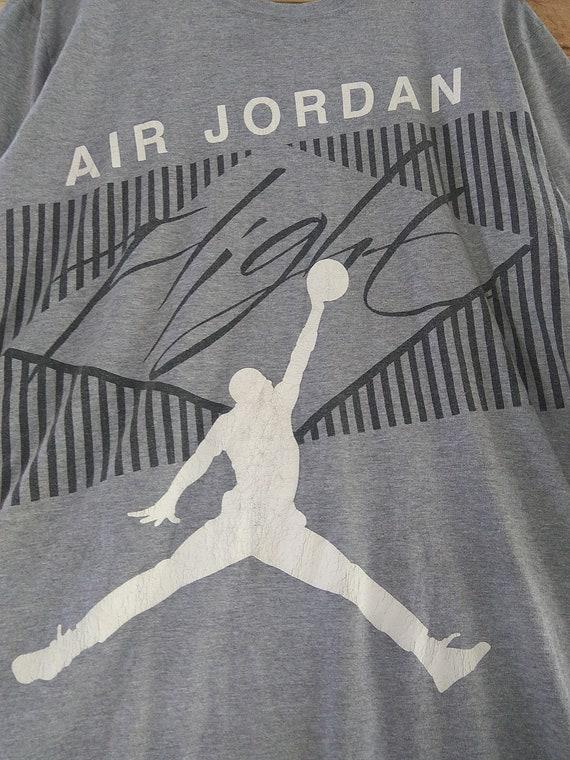 Air basket Jordan vintage gros logo spell out basket Air vintage gros logo t-shirt taille Medium #036-1 17b160