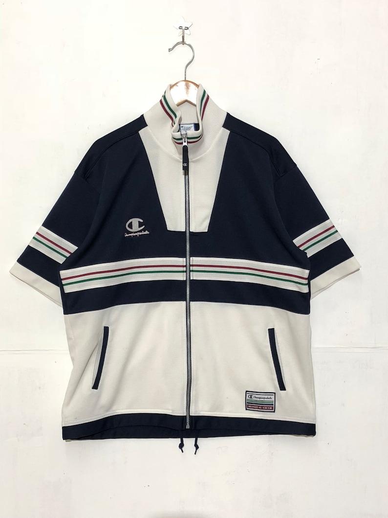 2d799f02ca79 Champion Vintage Small Logo Striped Sweater Unisex Sportswear   Etsy