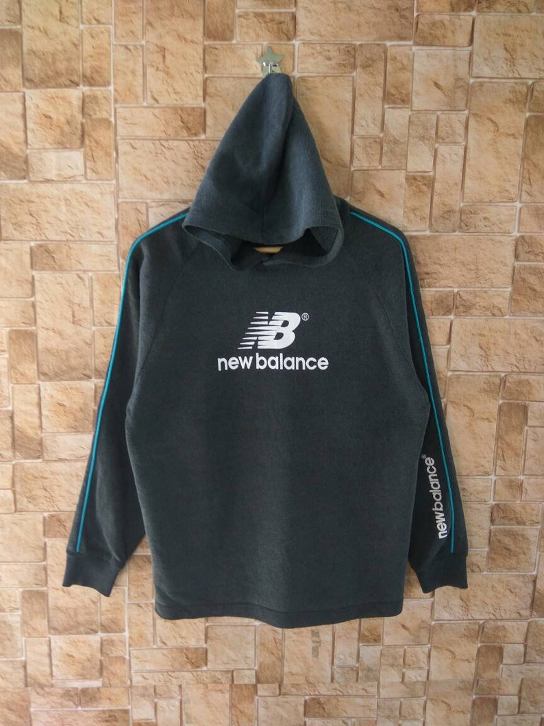 401106e21ef1c NEW BALANCE Hoodie Vintage big logo adults hoodie Clothing Vintage 90s Long  Sleeve Sweater Adults Clothing #306-7