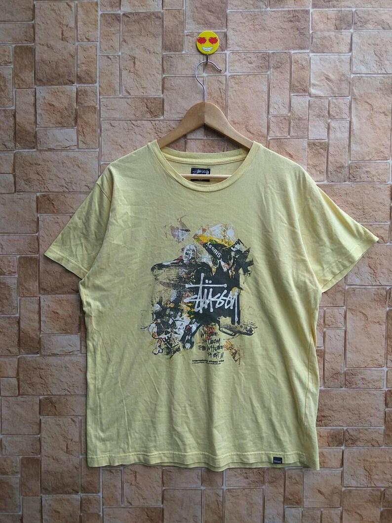 4d3765e2 STUSSY Rare Short Sleeve Round Neck T-Shirt Stussy 90s | Etsy