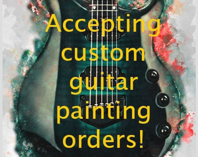"""Featured listing image: downloadable, custom music poster 16x20"""", guitar wall art, personalized artwork, electric guitar art, guitar gift, gift for guitarist"""