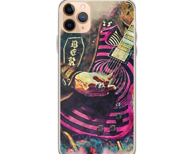 Featured listing image: Zakk Wylde's electric guitar, iphone 11 case, iphone 6 case, iphone 7 case, iphone 8 case, iphone x case, iphone xs case, iphone xr case