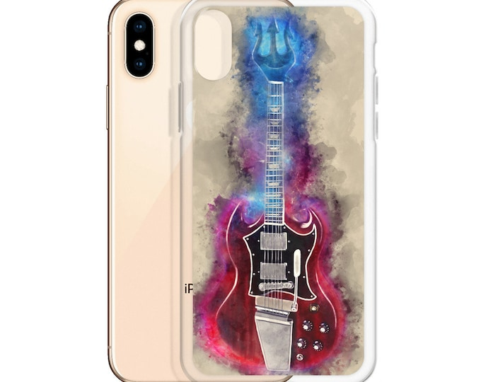 Featured listing image: angus young's guitar art, mobile phone case, iphone xr case, iphone 6 case, iphone 7 case, iphone 8 case, iphone x case, iphone xs case
