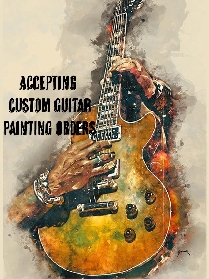 downloadable custom music poster 18x24 guitar wall image 0