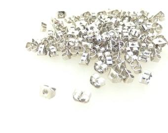 caps 100 strollers silver for pierced ears