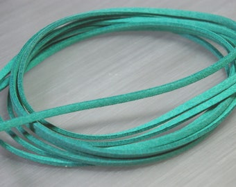 2 m cable flat suede turquoise