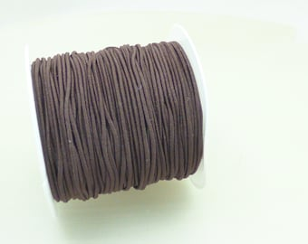 2 m chocolate elastic thread 1 mm