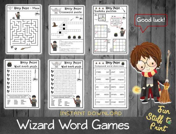 meilleure vente super promotions Design moderne Jeux de mots de sorciers - Mots croisés, mots mêlés, mots cachés, sudokus,  labyrinthe, dominos ...