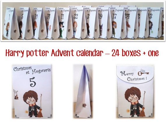 wizard advent calendar for harry potter fans and wizards etsy