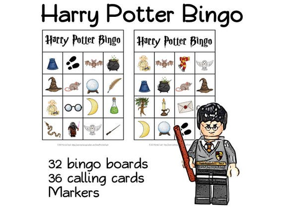Wizard BINGO For Wizards And HARRY POTTER Fans Birthday