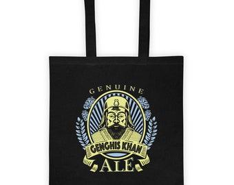Genghis Khan Art Beer Label Gift Light 6oz 14 x 15 Tote Bag