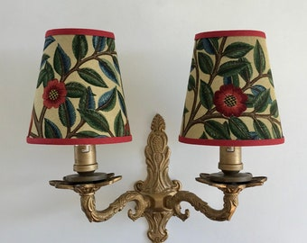Candle chandelier etsy william morris kelmscott tree small handmade candle clip lampshade for wall lightschandeliers aloadofball Image collections