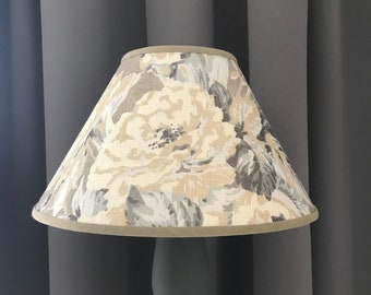 large cream lampshade table lamp coolie