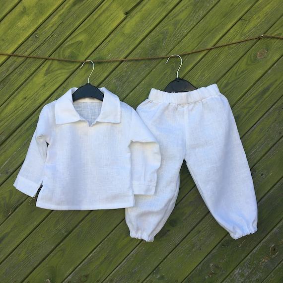 buy popular da7b2 374c0 Ragazzi lino camicia e pantaloni bambino vestito battesimo abiti di nozze  per ragazzi pantaloni di lino bianco camicia di lino bianco bambini ...