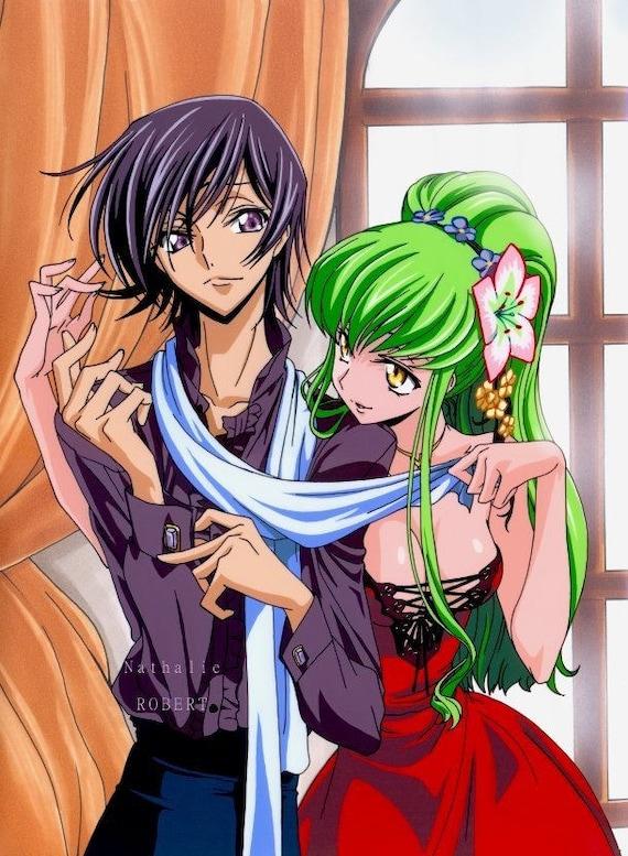 Manga Anime Lelouche And DC Code Geass Fanart On Celluloid