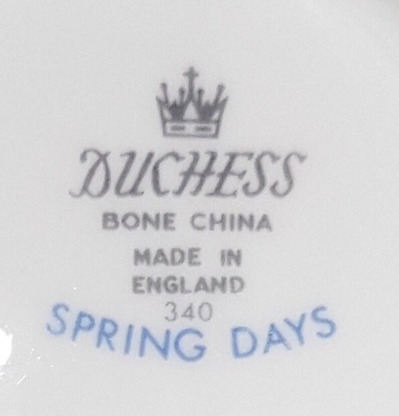 Duchess Bone China Cake Plate Spring Days