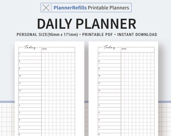 Personal Planner Inserts Etsy