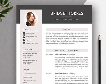 Best Selling CV Template / Resume Template for MS Word, Professional CV Template Design, Editable Resume Format, Instant Download