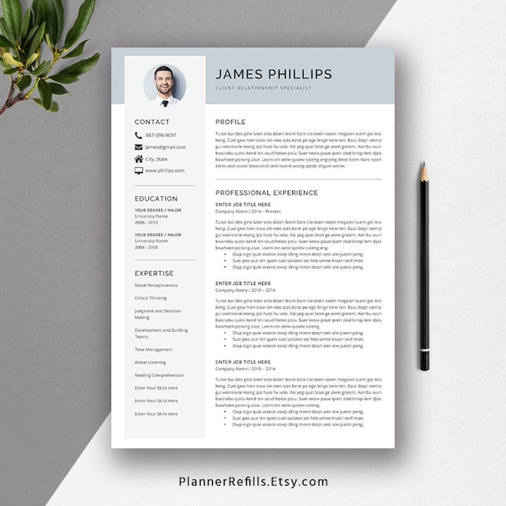 2019 Professional Resume Template, Functional Resume, Cover Letter, Fonts &  Icons, MS Office Word for Mac and PC, Digital Resume: The James