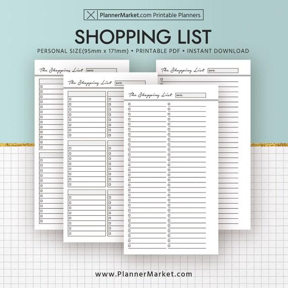 Einkaufsliste Einsätze Einkaufsliste 2018 Planer druckbare