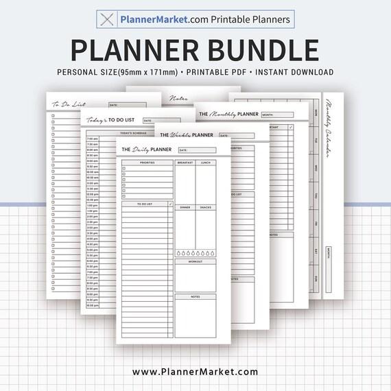 PLANNER BUNDLE 2019 Planner Printable Personal Size