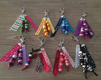 Key doors coloured with beads fimo and ribbons (individually)