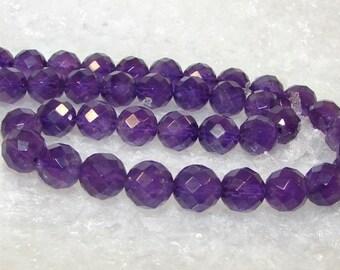 Amethyst 10 mm disco ball. Semi-precious stones. (B) 2630497)