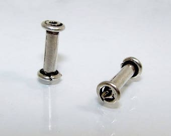 Silver tube beads 13.5 3.5.  Money first.