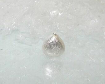 Silver Teardrop bead 12.00 by 12.00 mm.  Money first. (6433507)