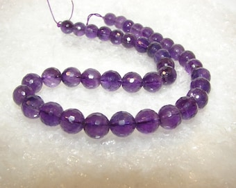 Amethyst 10 mm disco ball. Semi-precious stones. (2630461)