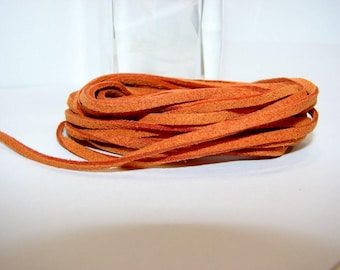 5 Metters orange suede backed, 3 mm on 1 mm imitation suede.