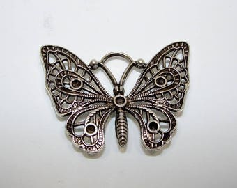 Charm pendant or Butterfly silver 35.00 mm in length. (5399879)