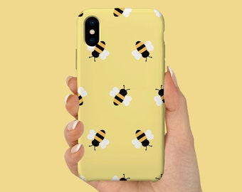 Gold Bumblebee Phone Case / iPhone 11 Case / iPhone 7 Case / 6S, 6, 11, SE, Plus Case / Samsung Galaxy S8, S10+, S10 Gift Case - PC-133