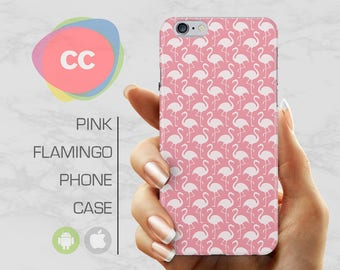 Pink Flamingo Phone Case / iPhone 6 Case / iPhone 7 Case / 6S, 5, 5S, SE, Plus Case / Samsung Galaxy S8, S7, S6 Gift Case - PC-106