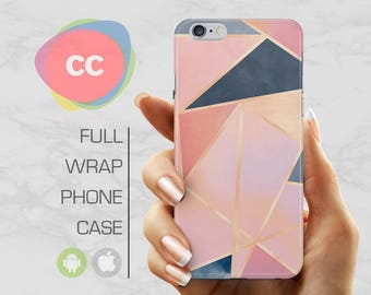 Pink Triangle Pattern Phone Case - iPhone 7 Case - iPhone 8 Case - iPhone 6 Case - iPhone 5 Case - iPhone X Case - Samsung S8 Case - PC-299