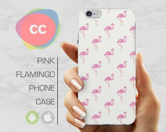 Flamingo Pink Phone Case / Gift For Her / iPhone 7 Case / iPhone 6S, 6, 5, 5S, SE, Plus Case / Samsung Galaxy S6, S7, S8, S9 Case - PC-104