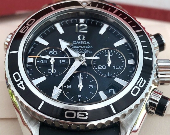 OMEGA midsize Planet Ocean Seamaster Co-Axial 37.5mm watch 222.30.38.50 600m WR - Full set including Box, warranty cards