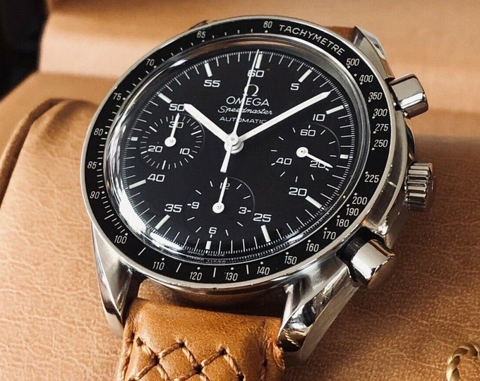 Omega Speedmaster 3510.50 Black Dial Men's Automatic Cal 3320 watch + warranty card + Box