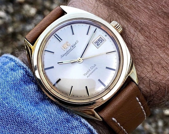 IWC Solid 18K / 750 Gold Mens Automatic Schaffhausen watch cal 8541 vintage 1979 gent wristwatch with 6 month warranty  + Box