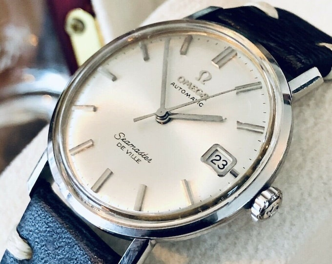 Omega vintage 1960s Mens Seamaster De Ville Automatic Serviced watch + Box